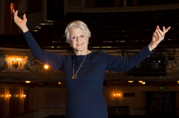 Angela Lansbury on stage at the Gielgud Theatre