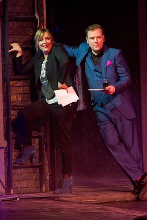 Mel Giedroyc and Rufus Hound
