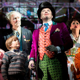 Douglas Hodge and company in Charlie and the Chocolate Factory