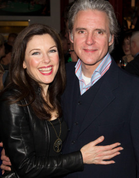 Real life husband-and-wife Josephina Gabrielle and Michael Praed