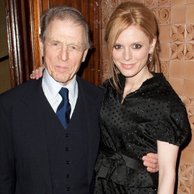 Emilia Fox with her father Edward