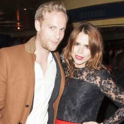 Jack Fox with his brother's wife Billie Piper