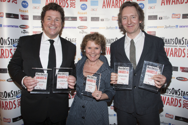 Michael Ball, Imelda Staunton and Jonathan Church at the 2013 Awards Concert