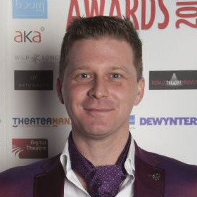 Dean Chisnall at the 2013 WhatsOnStage Awards