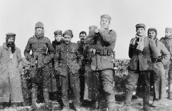 Soldiers during the Christmas truce of 1914, which has inspired a new play at the RSC