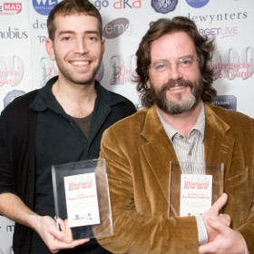 Edward Bennett and Gregory Doran at the 2009 WhatsOnStage Awards