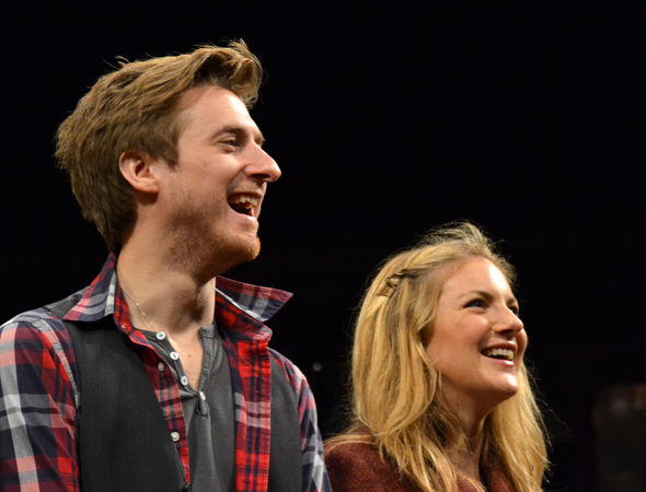 Arthur Darvill and West End veteran Joanna Christie as Guy and Girl.