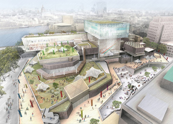 Artist's impression of the Southbank Centre development