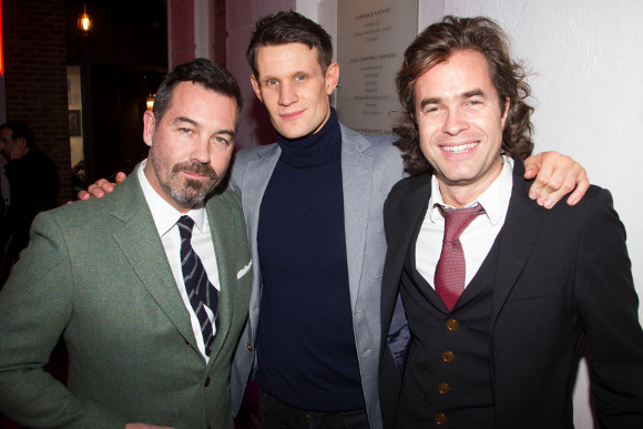 Duncan Sheik, Matt Smith and Rupert Goold at the premiere of American Psycho