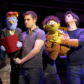 Jon Robyns and Simon Lipkin in Avenue Q in the West End