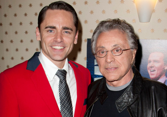 Ryan Molloy backstage with Frankie Valli in 2011