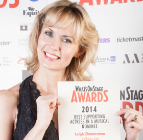 Leigh Zimmerman at the launch of the WhatsOnStage Awards