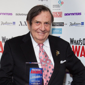 Barry Humphries collected the Award for Best Solo Performance