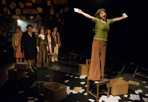Singing from A to Z: Isy Suttie (Mrs P) and the cast