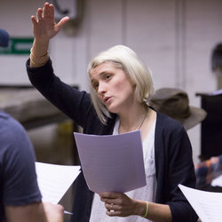 Heather Christian in rehearsals for Of Mice and Men at the West Yorkshire Playhouse until 29 March.