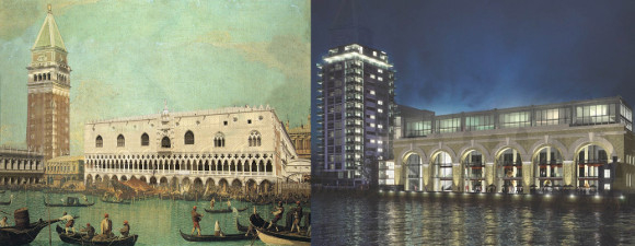 17th century Venice contrasted with Paynes and Borthwick Wharves