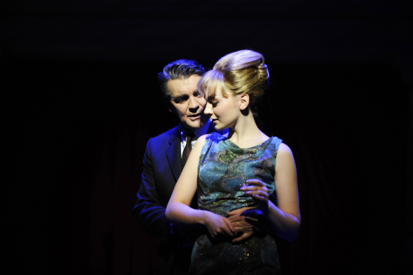 Stephen Ward (Alexander Hanson) and Mandy Rice Davies (Charlotte Blackledge)