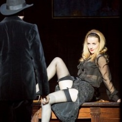 Laurence Cole (Young Lilaque) and Sarah Tynan (Manon Lescaut) in Boulevard Solitude (WNO)
