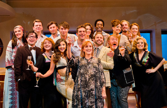 Toast of the town: The cast of Merrily We Roll Along at the Harold Pinter Theatre