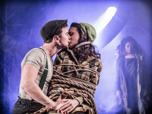 Richard Fleeshman, Rosanna Hyland and Karis Jack in Urinetown