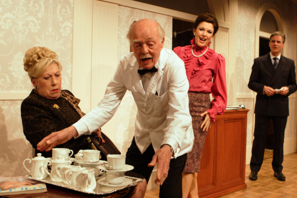 Ray Cooney and the cast of Two Into One