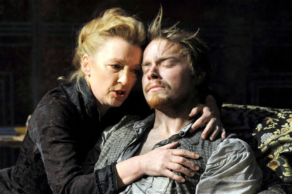 Jack Lowden with Lesley Manville in Ghosts