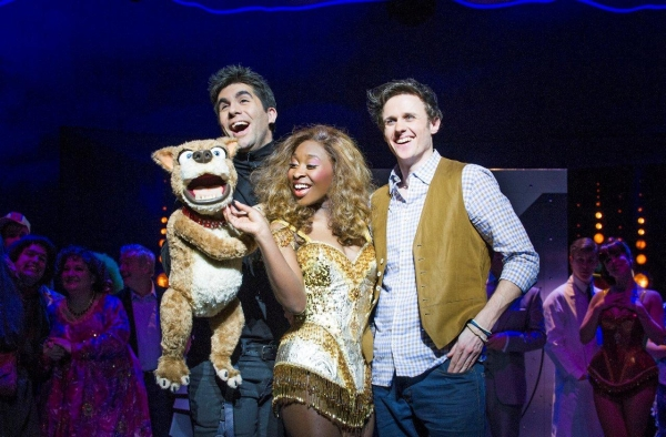 Simon Lipkin, Cynthia Erivo and Alan Morrissey