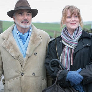 Burt Reynolds and Samantha Bond in the 2008 film