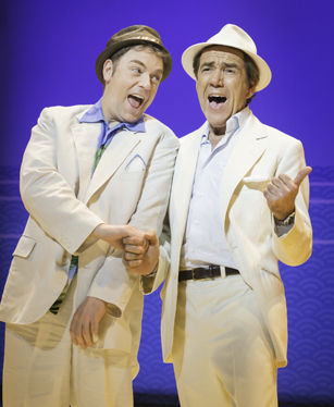 Rufus Hound and Robert Lindsay in Dirty Rotten Scoundrels