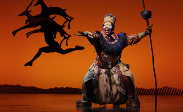 The Lion King tour boosted attendances