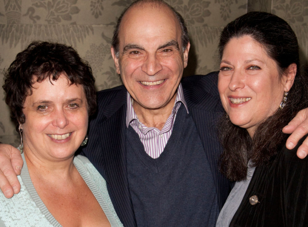 David Suchet with producers Nica Burns and Kim Poster