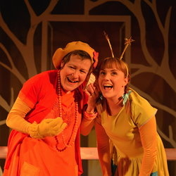 Erika Poole as Woman and Josie Cerise as Girl in tutti frutti's Monday's Child.