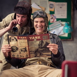 Geoff Arnold and Christopher Price in Catch-22 at Northern Stage.