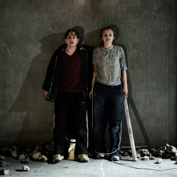 Harry McEntire and Leila Mimmack in Debris