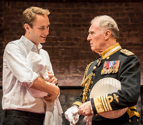 Oliver Chris and Tim Pigott-Smith in King Charles III at the Almeida