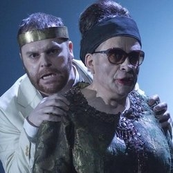 Roland Wood (Oedipus) and Matthew Best (Tiresias)