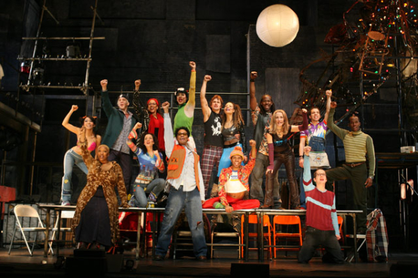 The cast of Rent on Broadway