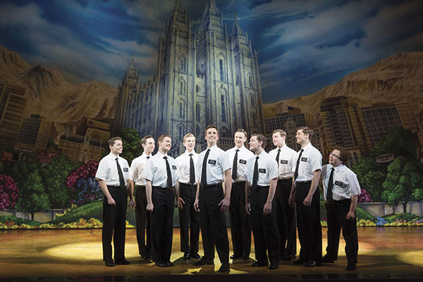 The cast of Book of Mormon