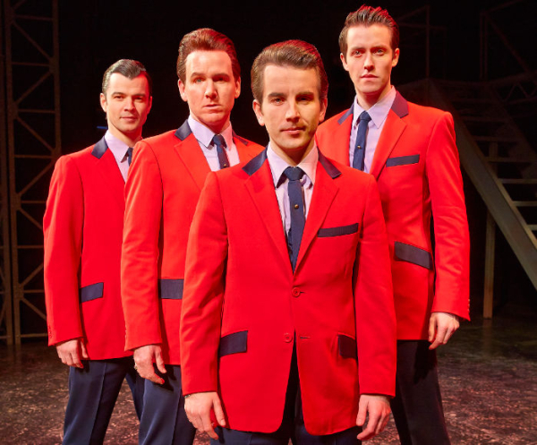 Jersey Boys stars Edd Post, Jon Boydon, Michael Watson and Matt Nalton