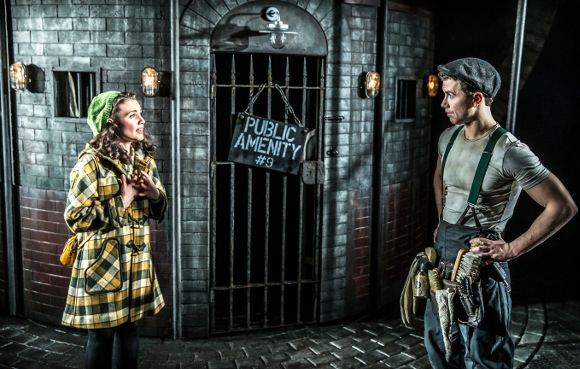Rosanna Hyland and Richard Fleeshman in Urinetown at the St James Theatre