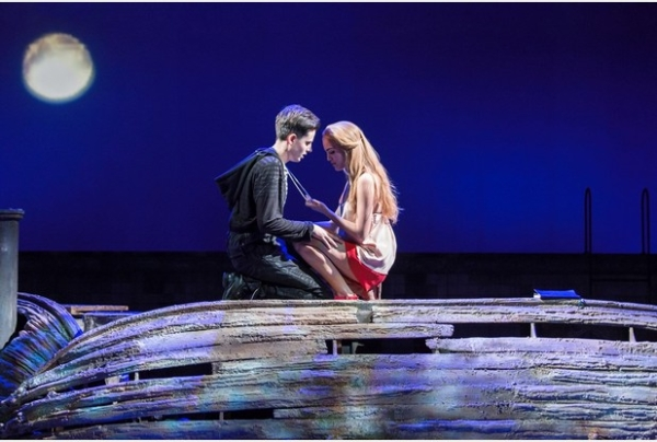 Making a splash: Tom Milner (Tom) and Lauren Samuels (Ellie) in Water Babies