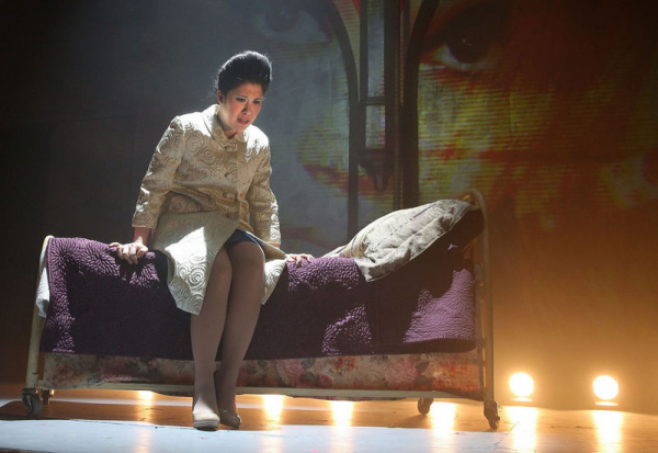 Ruthie Ann Miles as Imelda Marcos in Here Lies Love in New York