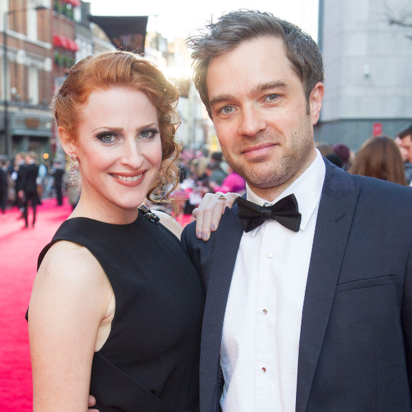 Art imitating life? Rosalie Craig and Hadley Fraser at this year's Olivier Awards