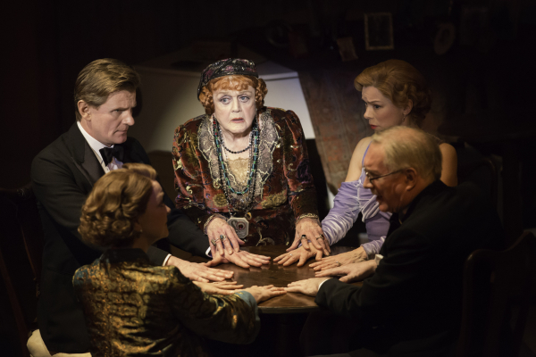 Angela Lansbury, Charles Edwards, Janie Dee and company in Blithe Spirit at the Gielgud