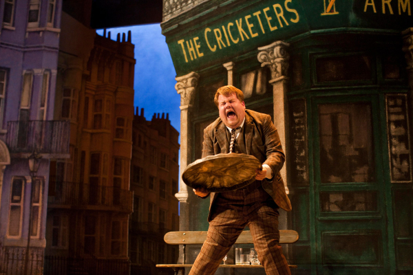 James Corden in the 2011 production of One Man, Two Guvnors at the Theatre Royal Haymarket