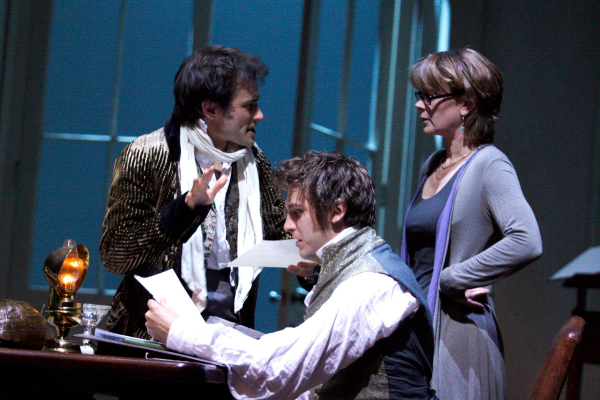 Ed Stoppard, Dan Stevens and Samantha Bond in Arcadia at Duke of York's Theatre