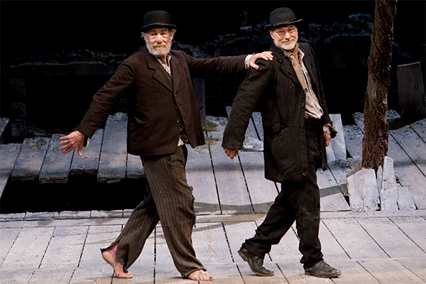 Ian McKellan and Patrick Stewart in Waiting for Godot at the Theatre Royal Haymarket