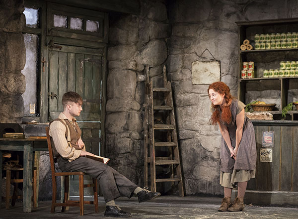 Daniel Radcliffe and Sarah Greene in the Michael Grandage production of The Cripple of Inishmaan at the Noel Coward Theatre