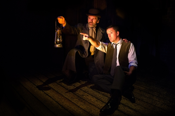 Stuart Fox and Gwynfor Jones in The Woman in Black at the Fortune Theatre