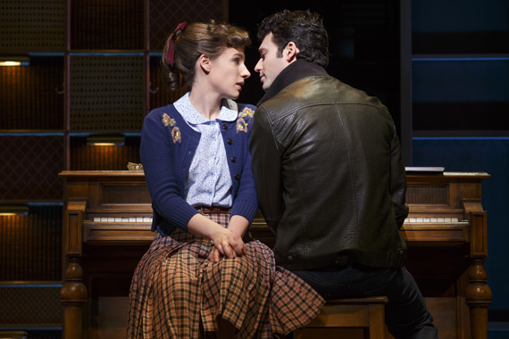 Jessie Mueller and Jake Epstein in Beautiful on Broadway